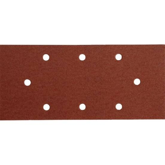 Csiszolópapír, tépőzáras, 93×190 mm, 8 lyukas klt, P40, 10db/cs